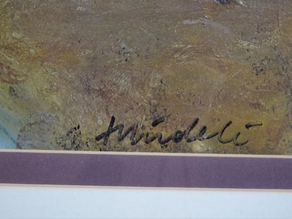 Lot 659: Marc Mindeli (born 1976) Russian, Acrylic/Paper