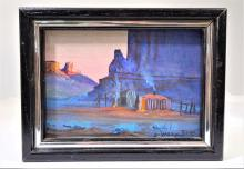 Johnny Yazzie (born 1945),Oil on Canvas