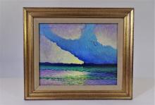 William Leon Stacks (1928-1991), Oil on Board