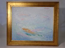 William Stacks (1928 - 1991) Large Oil/Canvas