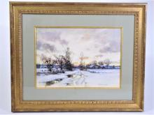 Hugh Bolton Jones (1848-1927) American, Watercolor