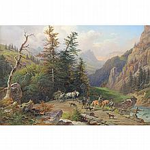 Franz Reinhold (1816-1893) Austrian Oil/Canvas