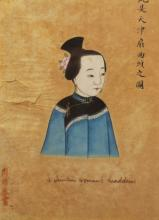 Signed 19th C. Chinese Portrait of Woman