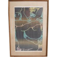 Signed Erotic Lithograph,