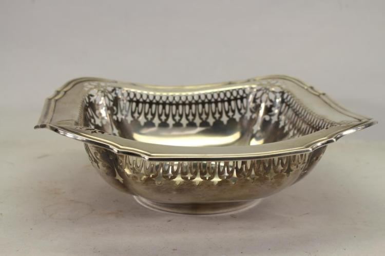 BIRMINGHAM STAMPED STERLING RETICULATED BOWL