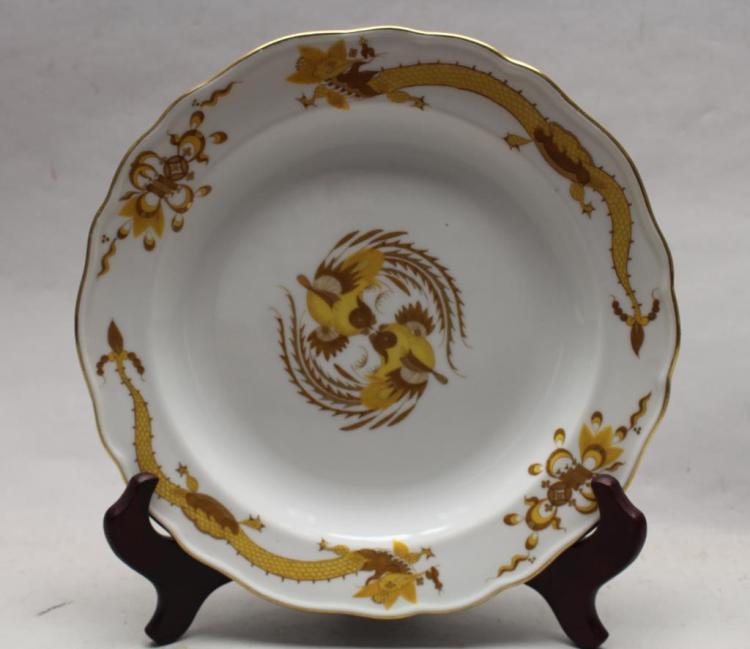 MEISSEN CHINESE MOTIF PORCELAIN PLATE