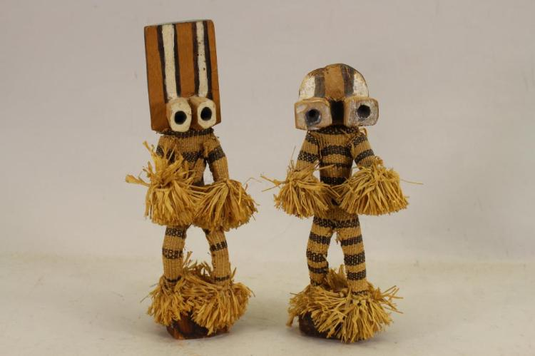 AFRICAN WESTERN PENDE WOOD AND FIBER DANCERS