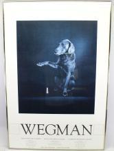1981 WILLIAM WEGMAN EXHIBITION POSTER