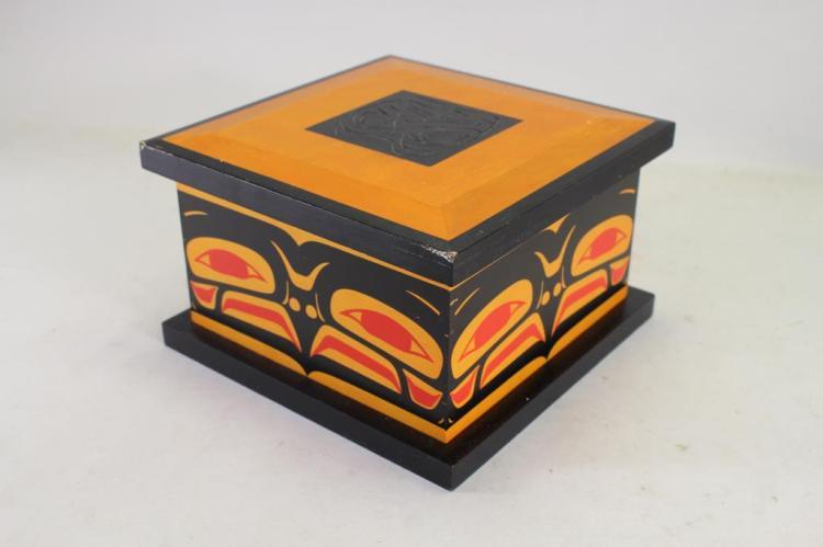 NORTHWEST COAST FIRST PPLS PAINTED BOX
