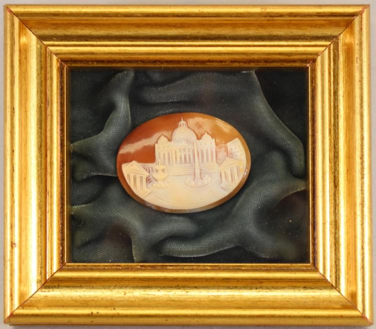 ANTIQUE CARVED CAMEO IN SHADOW BOX