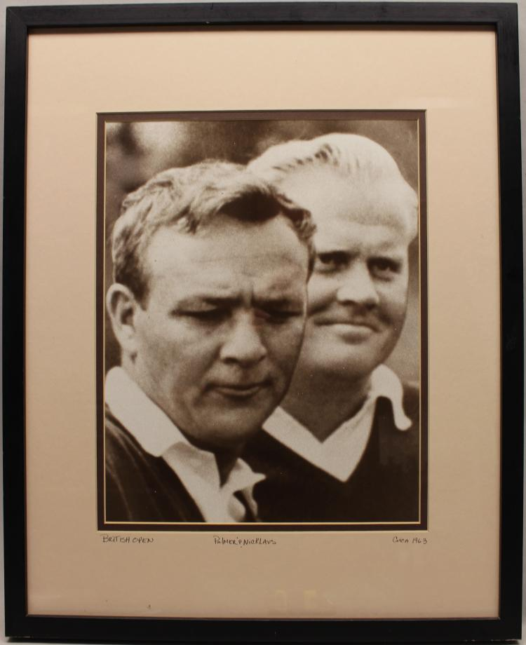 VINTAGE PALMER & NICKLAUS 1963 REPRO. PHOTOGRAPH