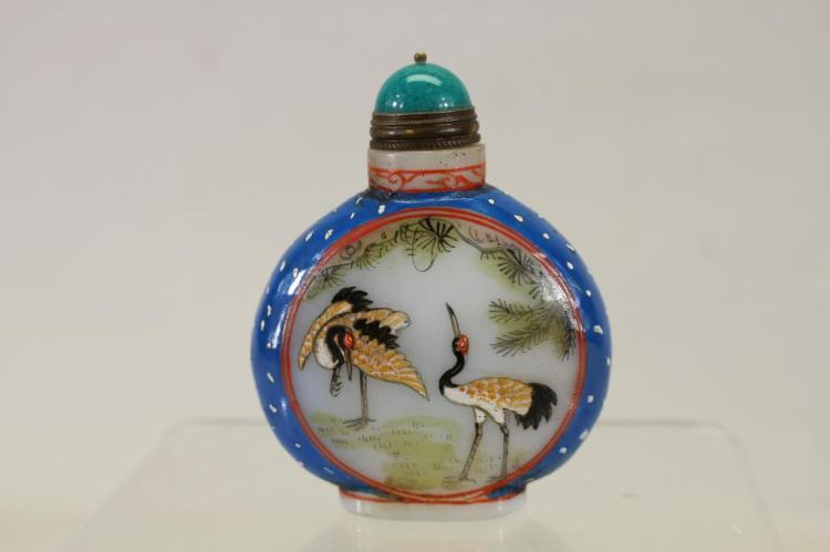 SIGNED, CHINESE SNUFF BOTTLE W/ STOPPER