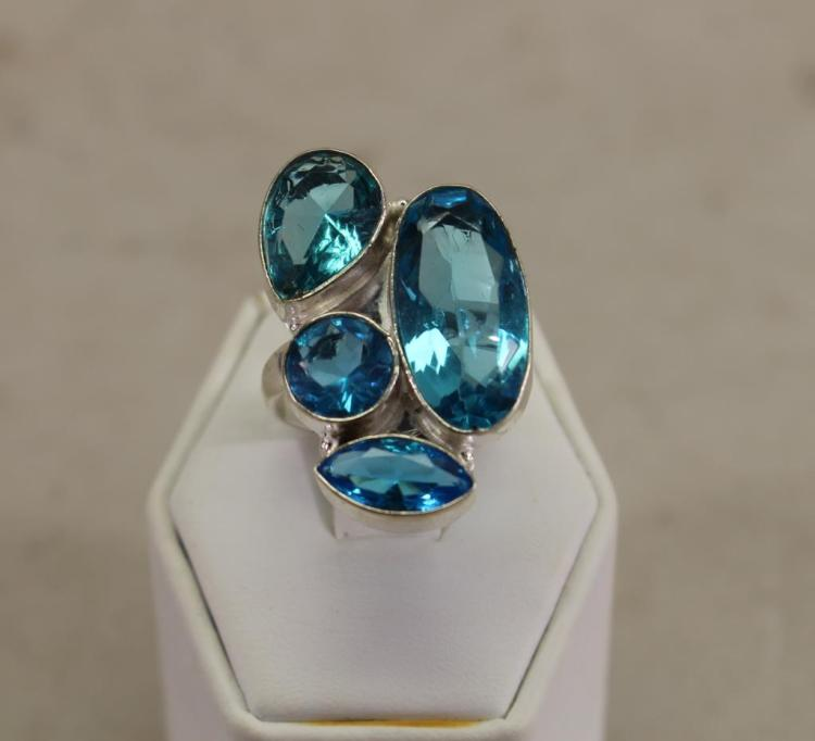 TOPAZ & STERLING RING