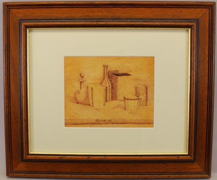 AFTER GIORGIO MORANDI (1890 - 1964), PEN/INK