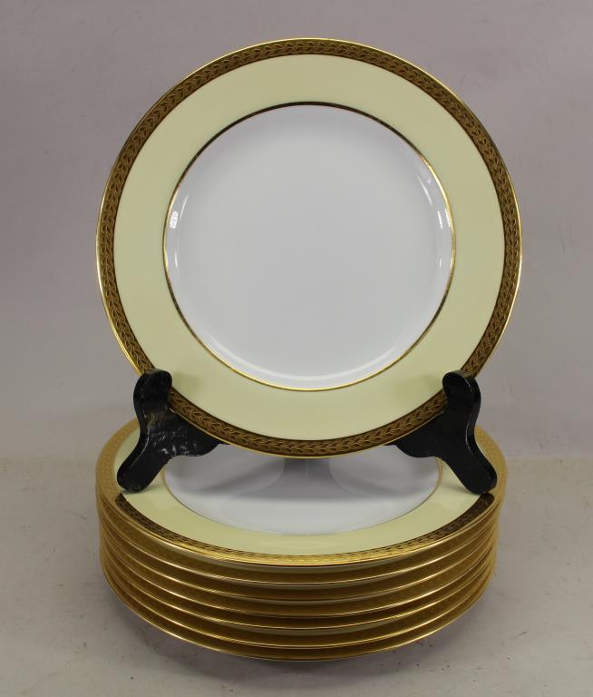 (8) SPODE COPELAND CHINA GOLD RIMMED PLATES