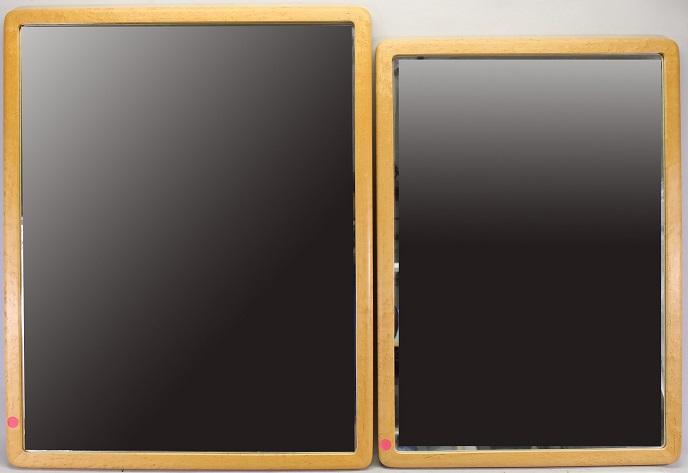 (2) Vintage Beveled Glass Mirrors