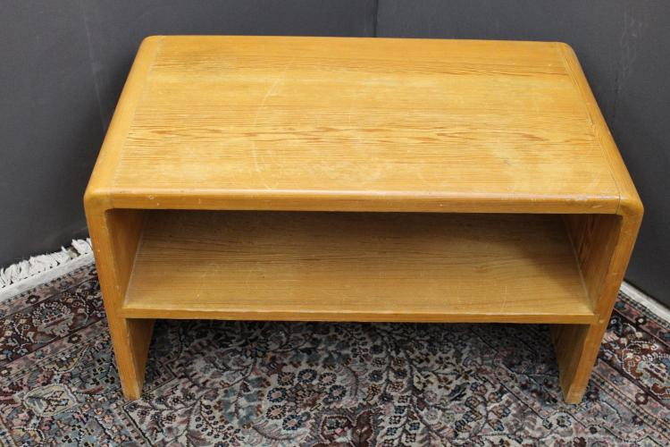 Vintage Two Tiered Wooden Bench
