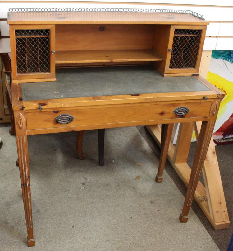 Antique American Two Piece Writing Desk