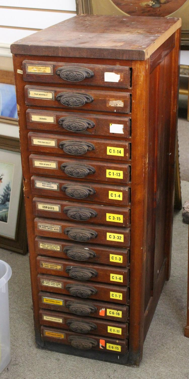 Antique French Tool Cabinet