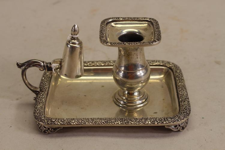 .800 Silver Candleholder w/ Snuffer