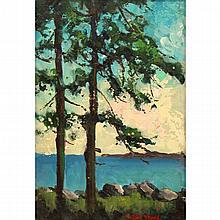 "Leon Stacks (1928-1991) ""Twin Pines"""