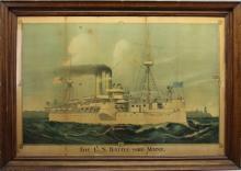 US Battle Ship-Maine Framed Print
