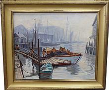 Emile Albert Gruppe (1896 - 1978) Italian Docks