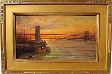 William Lippincott (1849-1920) Brooklyn Bridge NYC