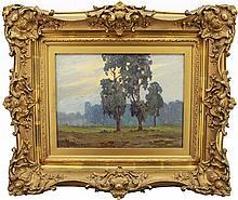 Hale Bolton (American,1885 - 1920) Texas Landscape