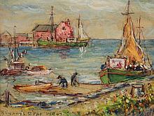 Reynolds Beal (1866 - 1951) Rockport Inner Harbor