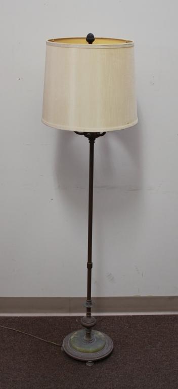 Bronze Onyx Floor Lamp Circa 1930s