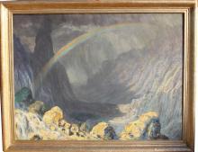 Large Otakar Stafl  (Czech 1884 - 1945)Valley Landscape