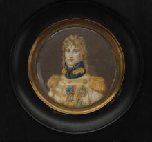 Signed Antique Portrait of Joachim Murat