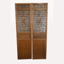 Pair of Antique Asian Carved Screens