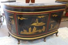 Chinoiserie Style Curved Bar