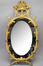 Antique Gilt/Carved Wooden Italian Mirror