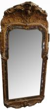 Large Antique Carved Swedish Mirror