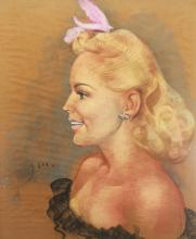 Signed 20th C. American School Portrait of a Woman