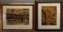 (2) Emile Bernard  (1868 - 1941)  Ink/paper