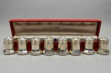 (8) Cartier Sterling Silver Salt/Pepper Shakers