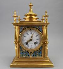 Tiffany & Co. Champleve/Gilt Bronze Clock Case