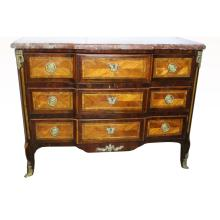 18th C. French Bronze Mounted Marble Top Commode