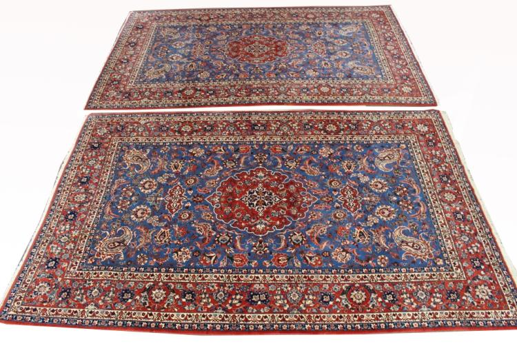 Matched Pair of  Persian Isfahan Rugs