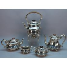 English Cheltenham 5 Pc. Sterling Silver Set