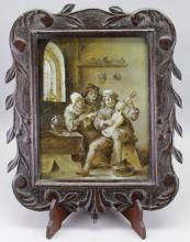Flemish School Old Master Painting on Copper