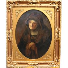 Circle of Rembrandt Fine Antique Portrait of Woman