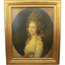 19th C. Framed Portrait of a European Woman