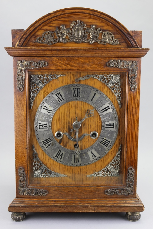 Antique Footed English Mantel Clock