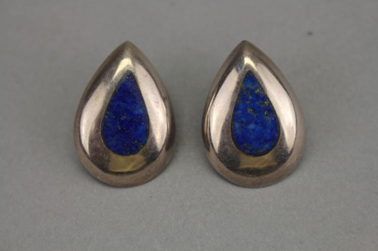 Vintage .925 Sterling Silver/ Lapis Earrings