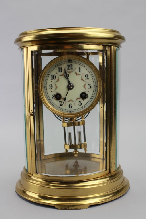 Early 20th C. Crystal Regulator Clock